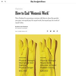 How to End 'Women's Work' and its Pay Gap