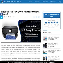 How to Fix HP Envy Printer Offline Issue?