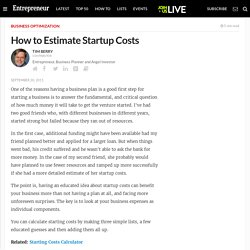 How to Estimate Startup Costs
