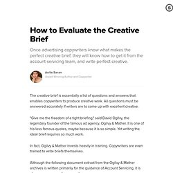 Creative brief pearltrees for Ogilvy creative brief template