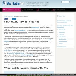 How to Evaluate Web Resources
