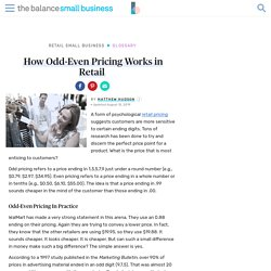 How Odd-Even Pricing Works in Retail