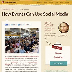 How Events Can Use Social Media