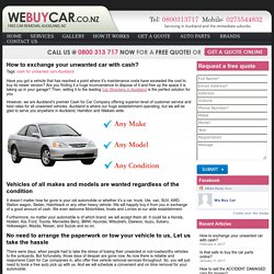 How to exchange your unwanted car with cash? -