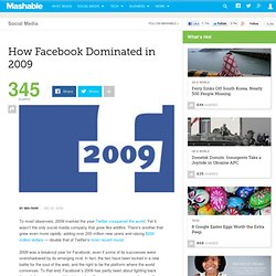 How Facebook Dominated in 2009