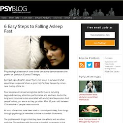 6 Easy Steps to Falling Asleep Fast — PsyBlog