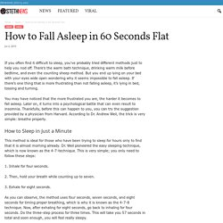 How to Fall Asleep in 60 Seconds Flat