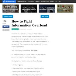 How to Fight Information Overload