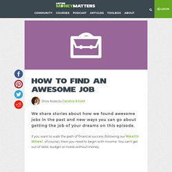 How to Find an Awesome Job