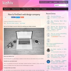How to find best web design company