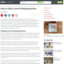 How to Find a Good Cleaning Service