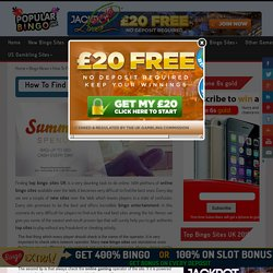 How To Find Out Top Bingo Sites UK