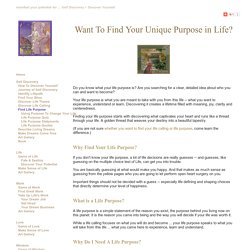 How To Find Out Your Life Purpose