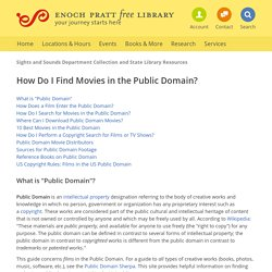 How Do I Find Public Domain Movies?