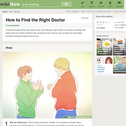 How to Find the Right Doctor: 11 Steps
