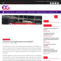How to find right event to exhibit?