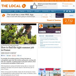 How to find the right summer job in France
