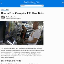 How to Fix a Corrupted PS3 Hard Drive