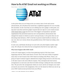 How to fix AT&T Email not working on iPhone