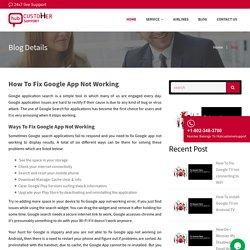 How Do I Fix Google App Not Working