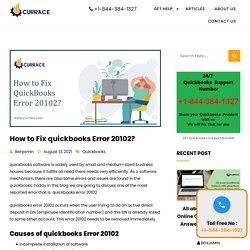 How to Fix QuickBooks Error 20102?
