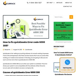 Best Possible Ways to Fix QuickBooks Error 6000 308