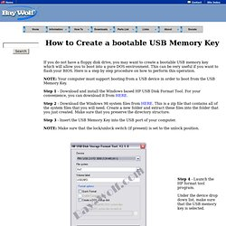 How to format a USB memory key