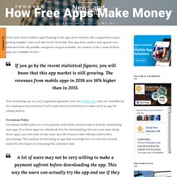 How Free Apps Can Make Money