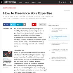How to Freelance Your Expertise