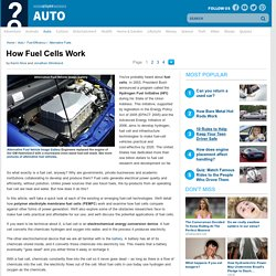 How Fuel Cells Work""