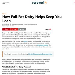 How Full-Fat Dairy Helps Keep You Lean