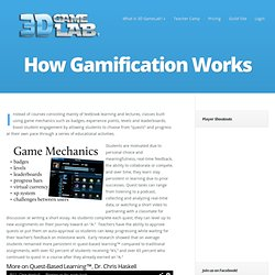 How Gamification Works - 3D GameLab