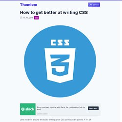 How to get better at writing CSS - freeCodeCamp.org - Medium