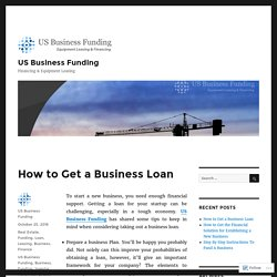 How to Get a Business Loan – US Business Funding