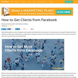 How To Get Clients From Facebook