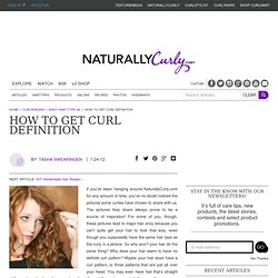 How to Get Curl Defintion