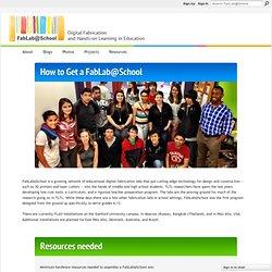 How to Get a FabLab@School - FabLab@School