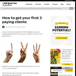 How to get your first 3 paying clients