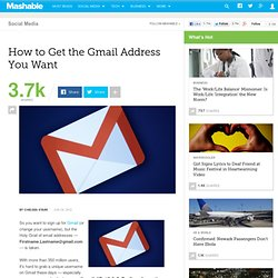 How to Get the Gmail Address You Want