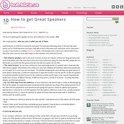 How to get Great Speakers