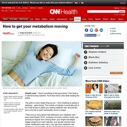 How to get your metabolism moving