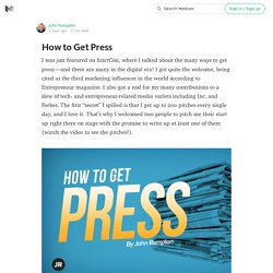 How to Get Press