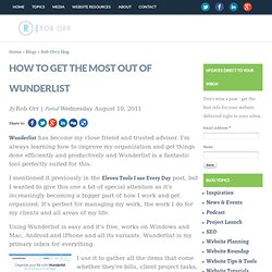 How to get the Most out of Wunderlist