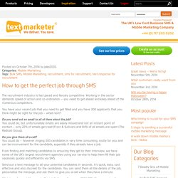 How to get the perfect job through SMS