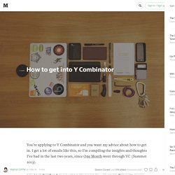 How to get into Y Combinator