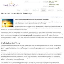 How God Shows Up in Recovery