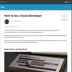 How to be a Good Developer
