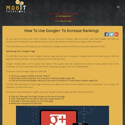 How to Use Google+ to Increase Rankings