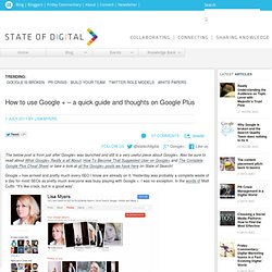 A quick guide to Google Plus