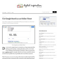 How To Use Google Search As An Online Timer
